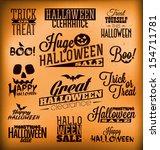 halloween calligraphic designs  ...   Shutterstock .eps vector #154711781