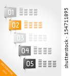 orange stickers with rectangle. ... | Shutterstock .eps vector #154711895