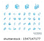 isometric line icon set. 3d... | Shutterstock .eps vector #1547147177
