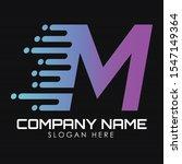 speed letter m logo design...   Shutterstock .eps vector #1547149364