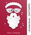 hipster style christmas... | Shutterstock .eps vector #154716995