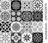 lisbon azujelo vector seamless... | Shutterstock .eps vector #1547223974