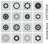 vector black  gears  icons set | Shutterstock .eps vector #154725014