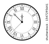 vintage clock with roman... | Shutterstock .eps vector #1547295641