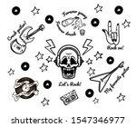 rock symbols  skull   broken... | Shutterstock .eps vector #1547346977