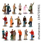 several people vector. detailed business people vector illustration series.see the others