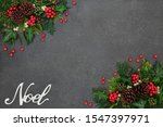 Noel Background Border With...