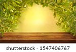 mockup of empty table with... | Shutterstock . vector #1547406767
