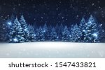 snow covered winter forest... | Shutterstock . vector #1547433821