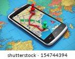 mobile gps navigation  travel... | Shutterstock . vector #154744394