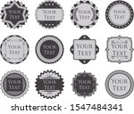 set of 12 retro and vintage... | Shutterstock .eps vector #1547484341