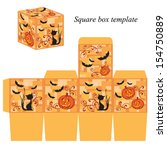 halloween box template with... | Shutterstock .eps vector #154750889