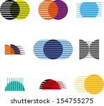 collection of sphere vector... | Shutterstock .eps vector #154755275