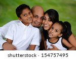 family outside together on a...   Shutterstock . vector #154757495