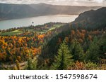 The Columbia River Gorge from Cape Horn Trail in Fall