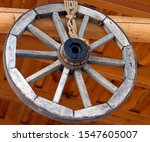 Horse Drawn Cart Wheel In A...