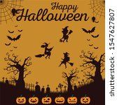 halloween night background with ... | Shutterstock .eps vector #1547627807