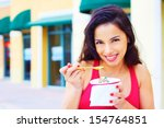 portrait of a happy smiling... | Shutterstock . vector #154764851