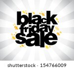 black friday sale banner. | Shutterstock .eps vector #154766009