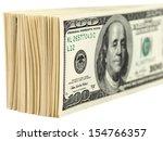 pile of one hundred dollar...   Shutterstock . vector #154766357
