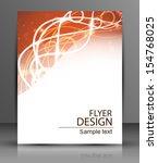 vector eps10 flyer design with... | Shutterstock .eps vector #154768025