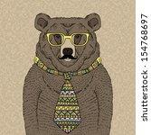 hand drawn illustration of... | Shutterstock .eps vector #154768697