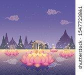 loy krathong festival ... | Shutterstock .eps vector #1547723861