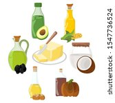 set of oil  fat  butter icon.... | Shutterstock . vector #1547736524