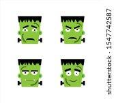 Set Of Frankenstein Facial...