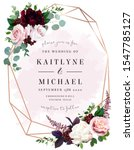 luxury fall flowers wedding... | Shutterstock .eps vector #1547785127
