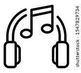 music headphones icon. outline...