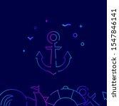 ship anchor vector gradient...