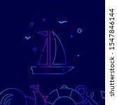 sailing yacht  sailboat vector...