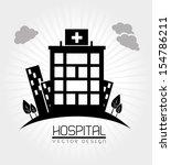 hospital design  over white... | Shutterstock .eps vector #154786211