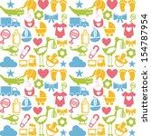 baby icons over white... | Shutterstock .eps vector #154787954