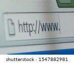 Internet Browser Close Up. Htt...