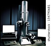 science medical equipment electron microscope