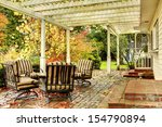Fall Trees And Back Porch With...