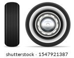 vintage car tires isolated on... | Shutterstock .eps vector #1547921387