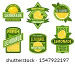 lemonade badges. lemon drink... | Shutterstock . vector #1547922197
