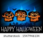 happy halloween vector... | Shutterstock .eps vector #1547946134