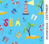sea funny seamless pattern for...