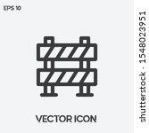 barrier vector icon...