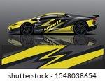 car decal wrap design vector.... | Shutterstock .eps vector #1548038654