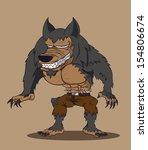 cartoon werewolf. vector...   Shutterstock .eps vector #154806674
