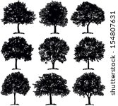 tree collection   vector... | Shutterstock .eps vector #154807631