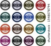 set of 16 retro stickers to...   Shutterstock .eps vector #1548078794