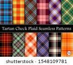 set tartan plaid scottish...   Shutterstock .eps vector #1548109781