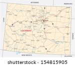 colorado road map | Shutterstock .eps vector #154815905