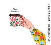 Tea Lover. Female Hand Holding...